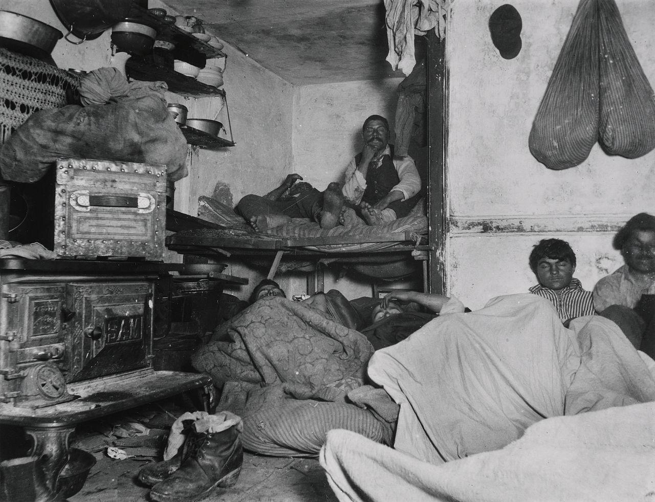 Jacob August Riis bayard Street Schlafstätte