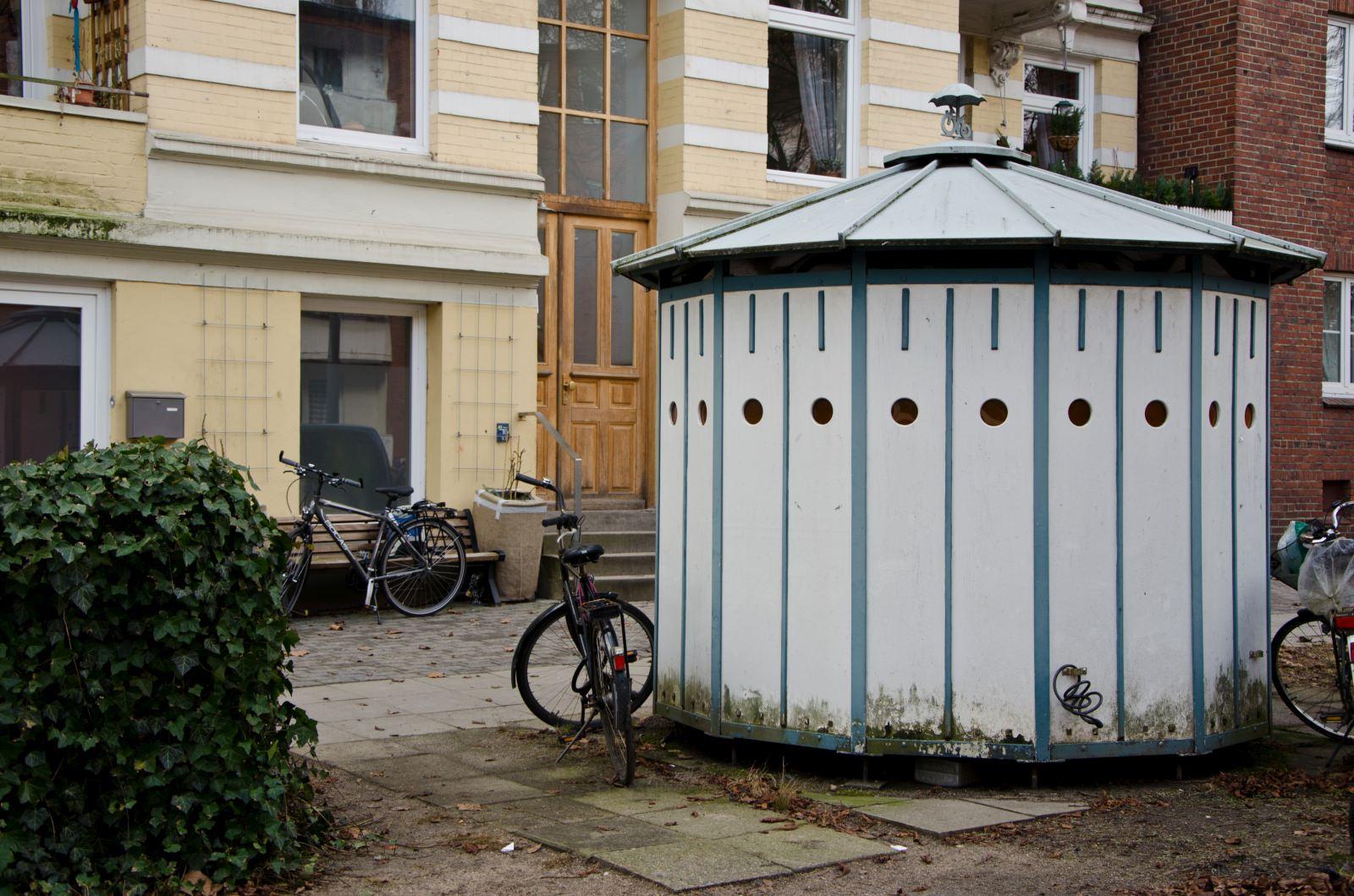 Hamburger Fahrradhäuschen Radabstellanlage