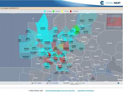 Lufträume Sperrungen Eurocontrol