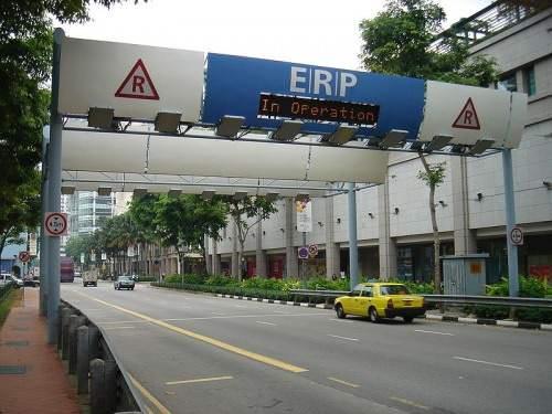 ERP Singapur Mautbrücke Checkpoint
