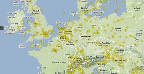 Flugverkehr Westeuropa