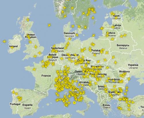 Aktuelle Situation im europäischen Luftraum