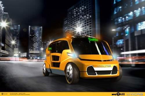 Uni Cab New York Wettbewerb Taxi der Zukunft Elektrotaxi