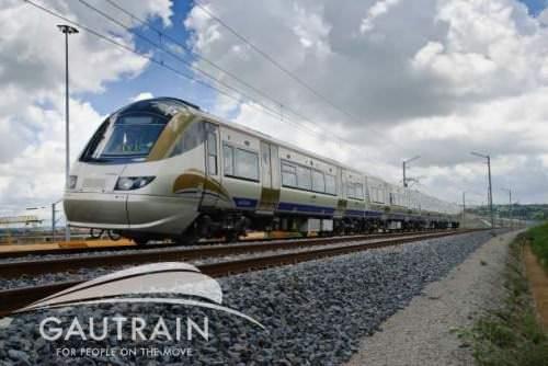 Gautrain Bombardier Zug Südafrika WM 2010