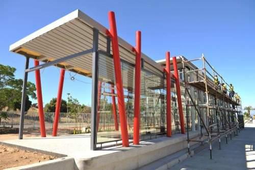 BRT Cape Town Haltestelle im Bau