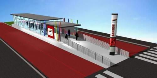 BRT Cape Town Simulation einer Haltestelle