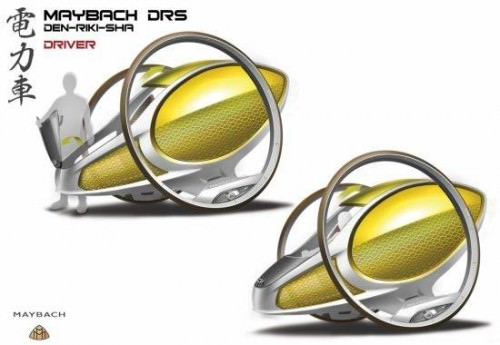 Mayback DRS Elektrorikscha. Designstudie von Mercedes Japan