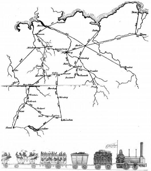 Friedrich List: Entwurf eines gesamtdeutschen Eisenbahnnetzes 1833