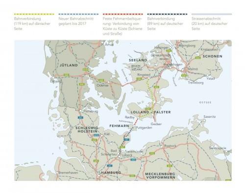 Karte Hinterlandanbindung Feste Fehmarnbelt-Querung