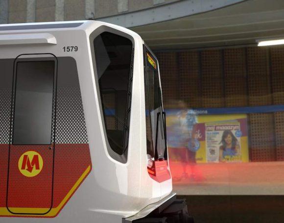 Inspiro U-Bahnwaggon für die Warschauer Metro von Siemens und BMW. U-Bahn ist recyclebar.