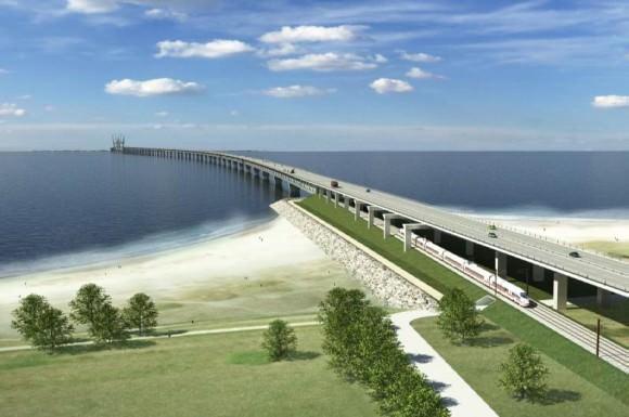 Rampe Fehmarnbeltbrücke auf dänischer Seite - Entwurf - Querung - Tunnel