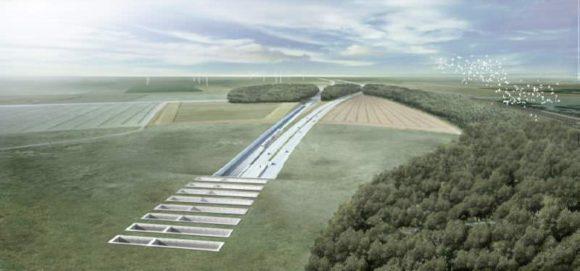 Tunnelportal Fehmarnbelt Tunnel Querung Deutschland Entwurk Konzeptzeichnung