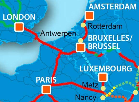 Einbindung Belgiens in das europäische Hochgeschwindigkeitszugnetz