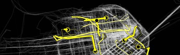 Cabspotting GPS Taxi San Francisco Stamen Design Visualisierung