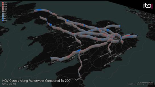 ITO Verkehr in Großbritannien Autobahnen