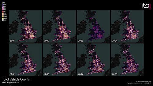 Visualisierung durch ITO Verkehr in Großbritannien