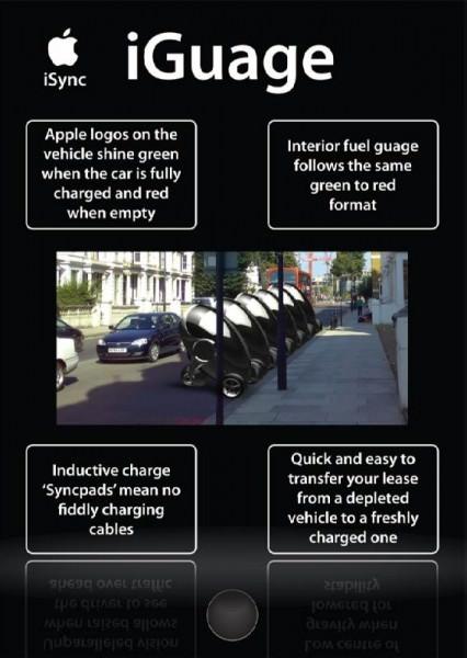 iGuage Apple iSync Apple Car Designstudie von Nathan Williams
