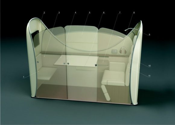 Maglev Magnetschwebebahn Designstudie Vanja Valencak Innenraum Transrapid Kabine