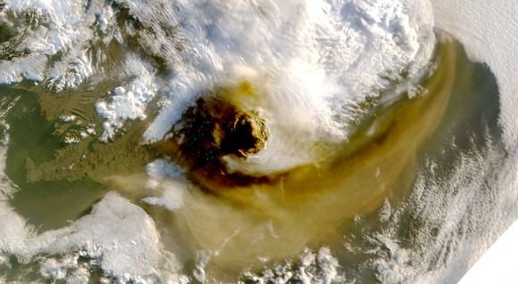 Grímsvötn Vulkanausbruch Island NASA Satellitenbild Mai 2011
