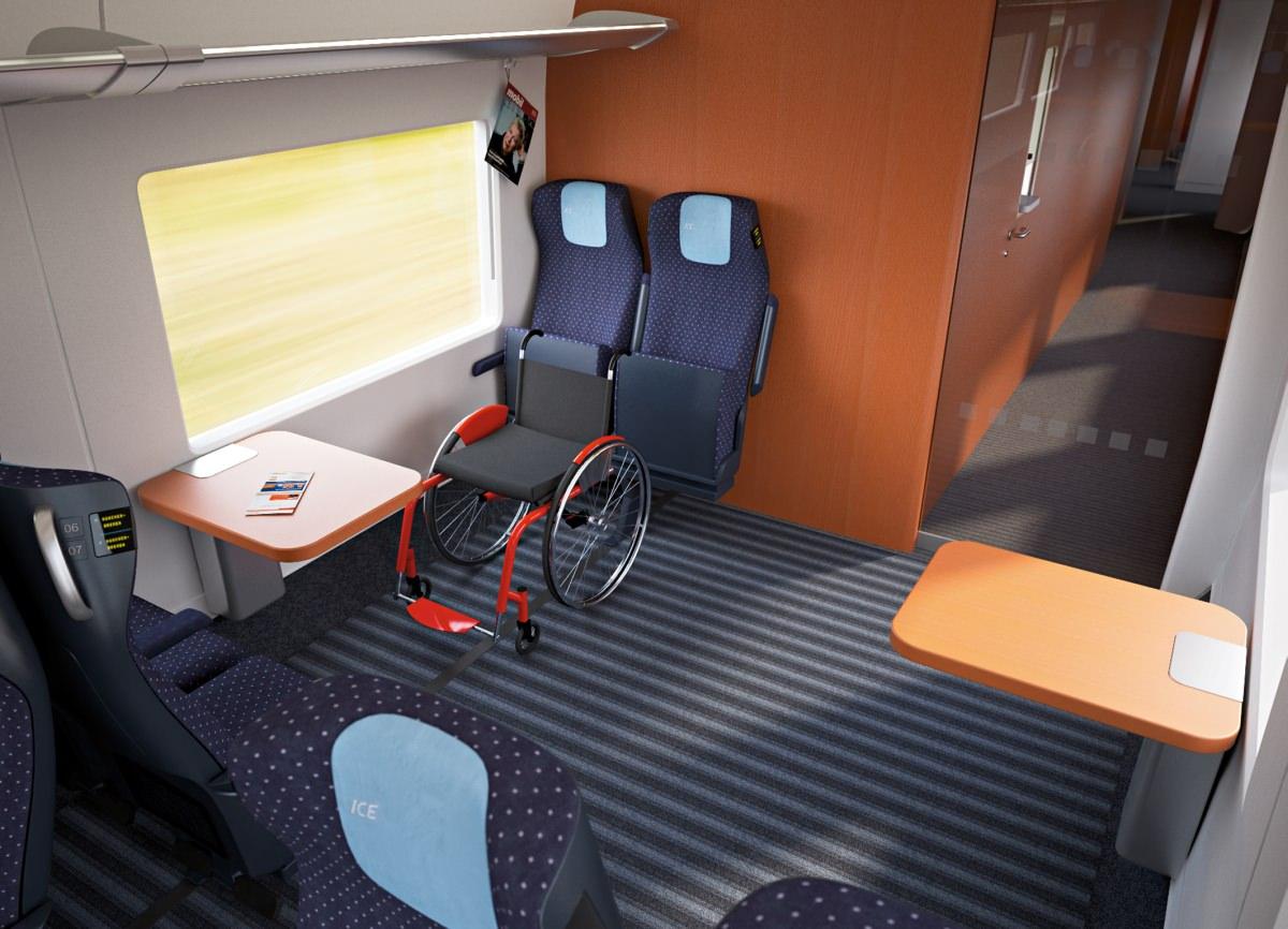 ICx Innenraum DB Siemens neuer ICE Rollstuhlbereich