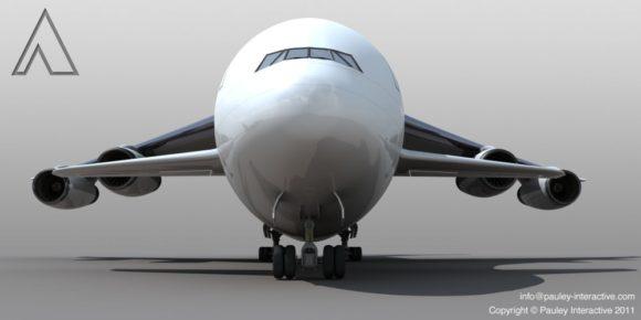 Größtes Flugzeug der Welt Phil Pauley Designstudie seines Superjumbos 1500 Passagiere