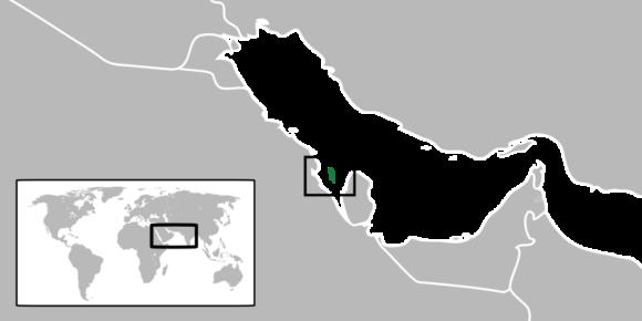 Karte von Bahrain Weltkarte