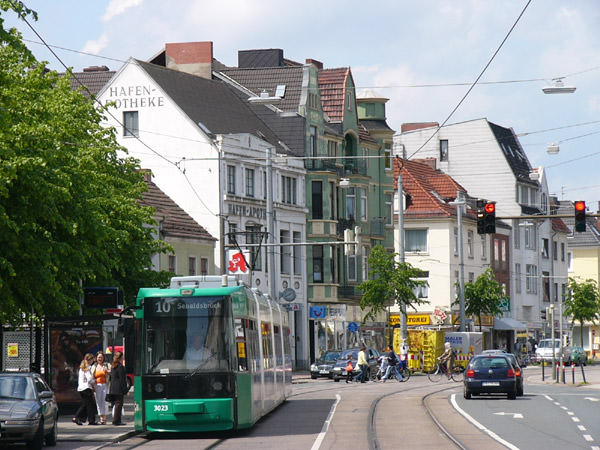Kaphaltestelle Verkehrsfluss Straßenbahn