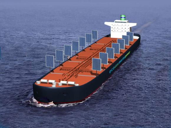 Eco Marine Power Aquarius Segel aus Solarzellen für Hochseeschiffe