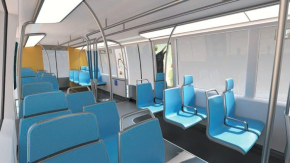 BART Designworks USA neuer U-Bahn Waggon Innere Konzept A