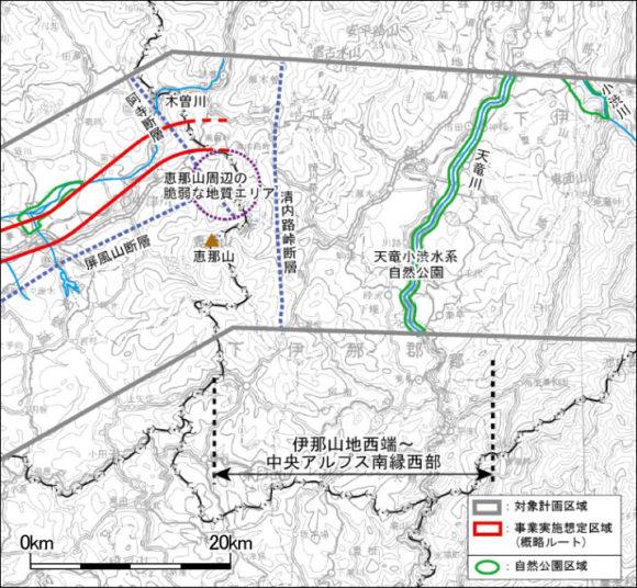 Chuo-Shinkansen Streckenführung Japan Maglev zwischen dem Inagebirge und den Zentralalpen