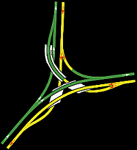 Abzweig LGV Nord bei Fretin in Richtung Belgien und in Richtung Eurotunnel