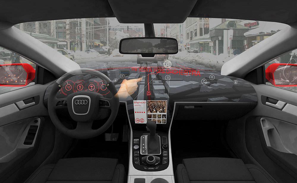 AIDA 2.0 3D Hologramm im Armaturenbrett Navigation MIT VW AUDI