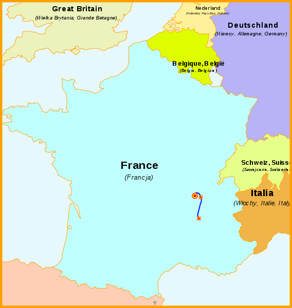 LGV_Rhône-Alpes Umfrahrung Lyon TGV Netz Frankreich