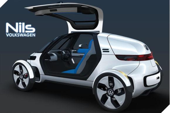 Volkswagen NILS Elektroauto Konzeptstudie Stadtauto Designstudie Mikroauto