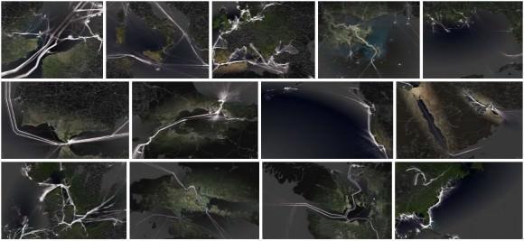 Schifffahrtsrouten weltweit Visualisierung Öltanker Container