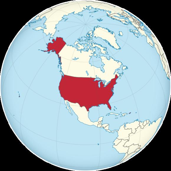 Karte der USA Globus Weltkarte