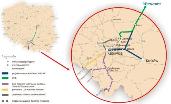 Ausbau Katovice - Das vorgeschlagene Streckennetz der Hochgeschwindigkeitsbahn in Polen bis 2050