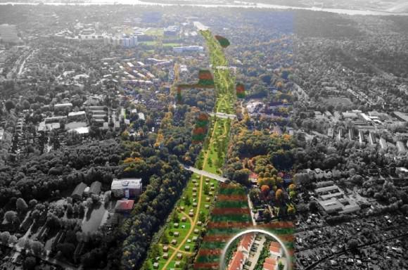 Hamburger Deckel über die A7 Autobahn Lärmschutz Schnelsen, Stellingen, Othmarschen