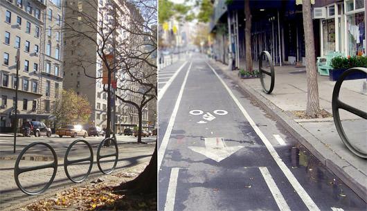 New York Wettbewerb Fahrradständer cityracks
