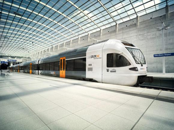 RRX Rhein-Ruhr-Express im Ruhrgebiet Zukunft der Eisenbahn Designsttudie mit Stadler FLIRT