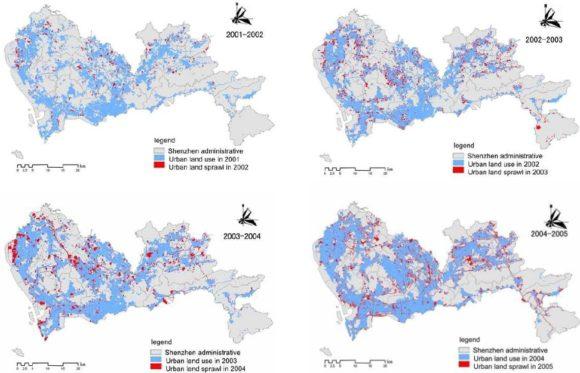 Zersiedelung und Suburbanisierung in China am Beispiel der Stadt Shenzhen 2001 - 2005