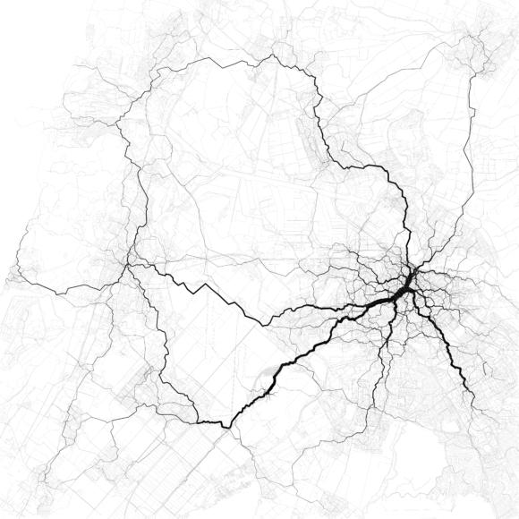 Verkehr in Amsterdam Verkehrsströme Netzbelastung Stau