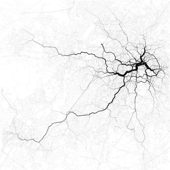 Verkehr in Berlin Verkehrsströme Netzbelastung Verkehrsnetz Stau