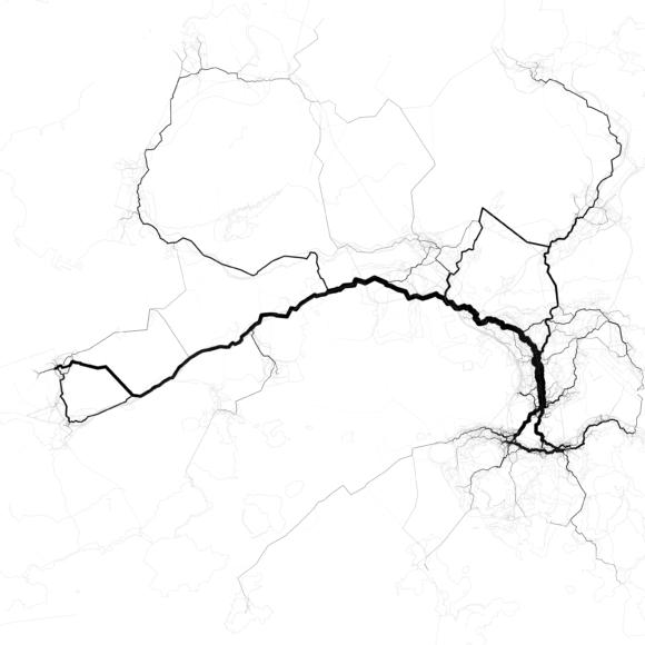 Verkehrsströme Hong Kong China Asien Stau Verkehrsnetz Belastung