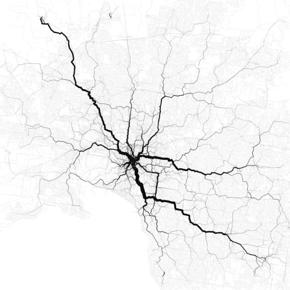 Verkehr Melbourne Australien Verkehrsströme Stau Verkehrsnetz