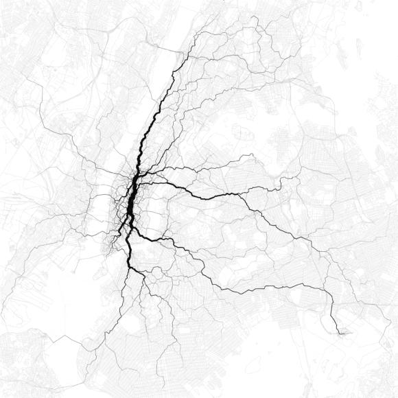 Verkehr in New York Verkehrsströme Netzbelastung Verkehrsnetz Stau