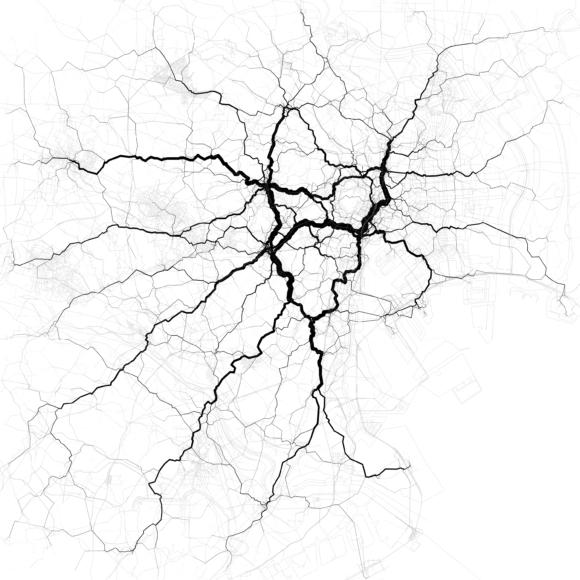 Verkehrsströme Tokio Japan Asien Stau Verkehrsnetz Belastung