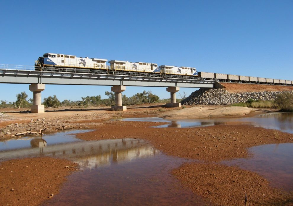 Güterzug Eisenerz Plibara Australien