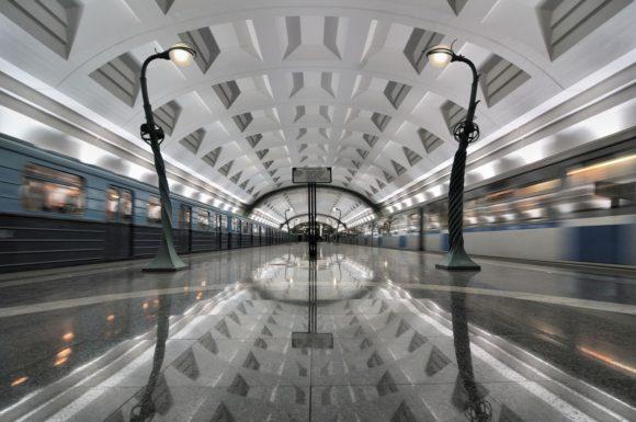 Moskauer Metro ahnhof Architektur Schönheit