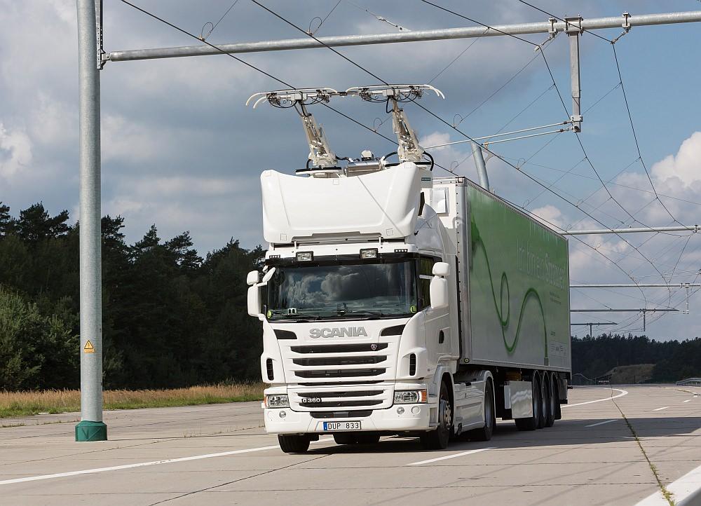Siemens eHighway Scania Sattelziug